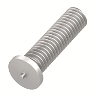 Metric Flanged Aluminum Capacitor Discharge Weld Studs (Thread Size - M3)