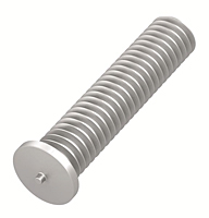 Flanged Aluminum Capacitor Discharge Weld Studs (UNC & UNF) (Thread Size - 8-32)